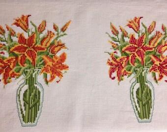 Cross Stitch Tiger Lilies