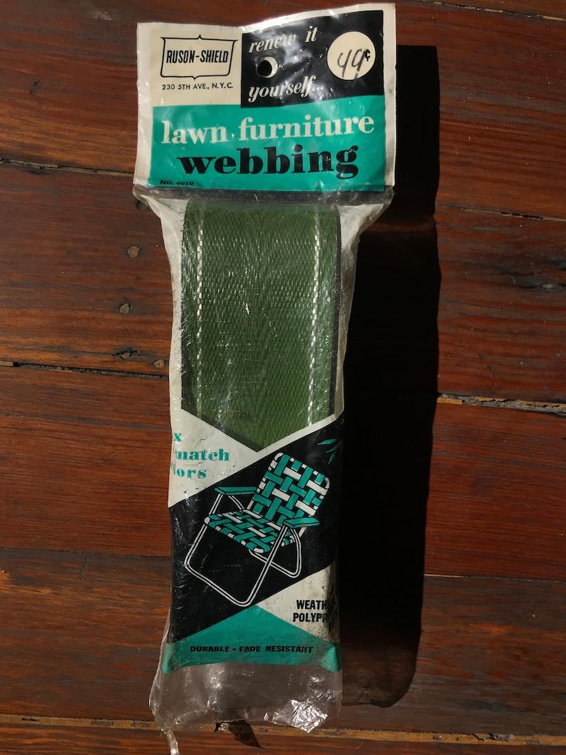Vintage Patio Furniture Outdoor Gardening Chair Craft Decor Craft Supplies 1980s Lawn Furniture Webbing Tools