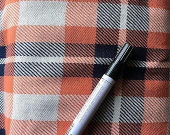 Alb fabrics, jaquard jersey, blue with orange