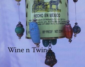 Corralejo tequila Bottle Wind Chime-Large 1.75 ml