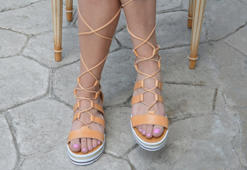 74635aff5722 Gladiator sandals with leather lacesLuxury Ancient Greek