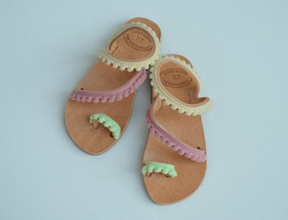Girls boho sandals baby Dafni Girls Leather Sandals,Leather sandals for girls,Girls boho Shoes,baby sandals,Kids Sandals