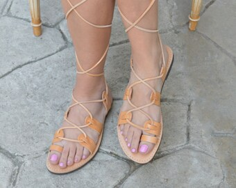 Gladiator sandals with leather laces,Luxury Ancient Greek Sandals,Spartan Sandal., Bridal sandals,Greek sandal , Mythology inspired Sandals.