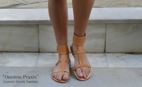 306977337728b Gladiator Leather Sandals Ancient Greek SandalsNatural
