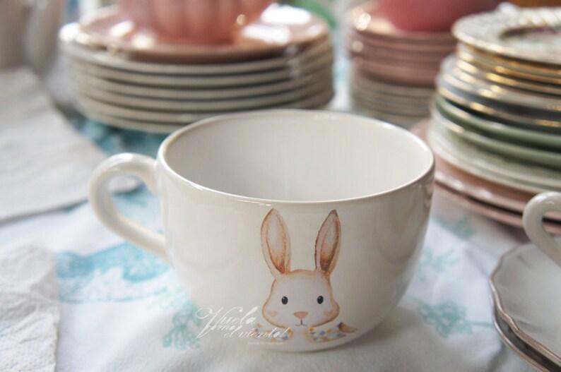 Maxi MUG Rabbit or Dog-illustrated cups teacups rabbit Maxi Bowl Sausage Dogs