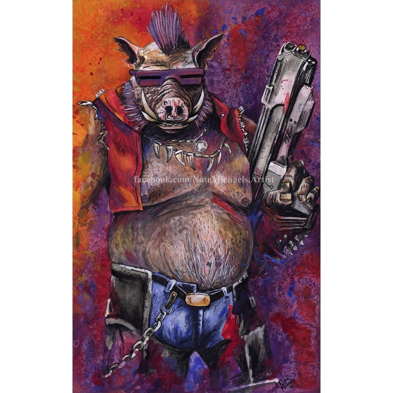 Two Painting Set Rocksteady and Bebop TMNT