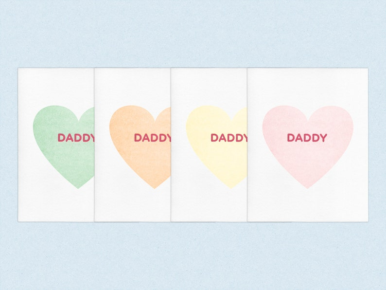 Valentine's Day Daddy  Letterpress Gay Queer image 0