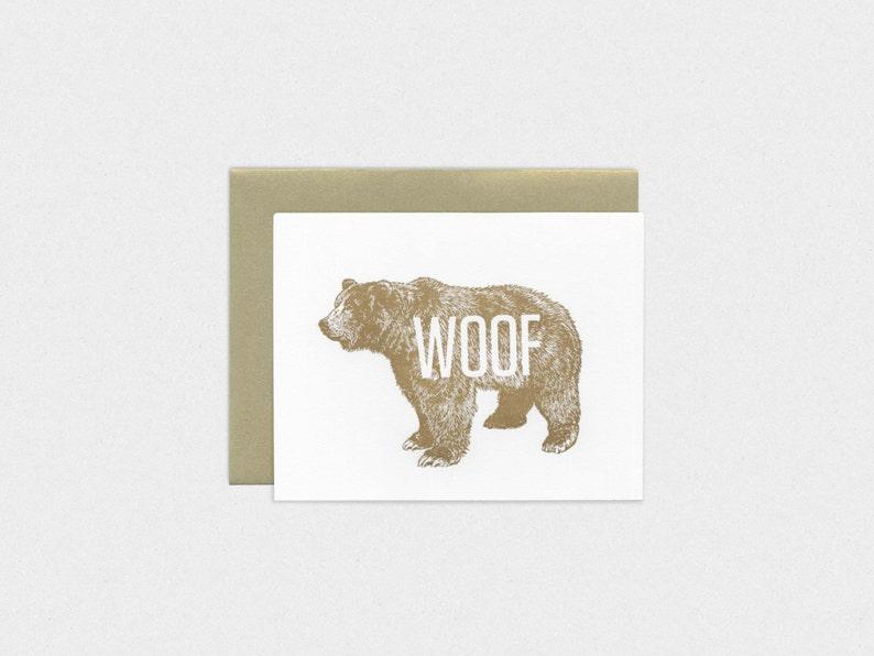 Gay Bear Woof Letterpress Anniversary / Romance image 0