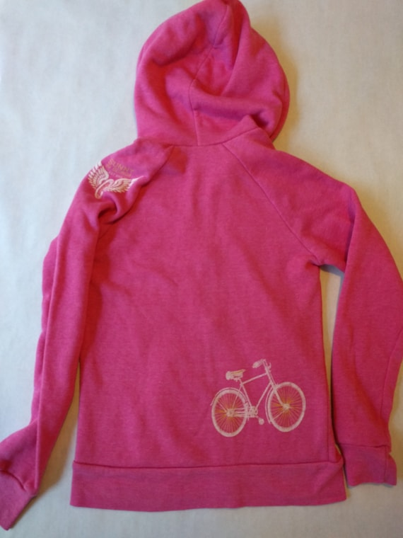 Sunny In Georgia's Pink Ladies bicycle zip up hoodie (SMALL)