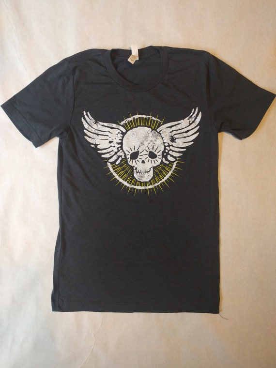 Flying skull tri-blend tee