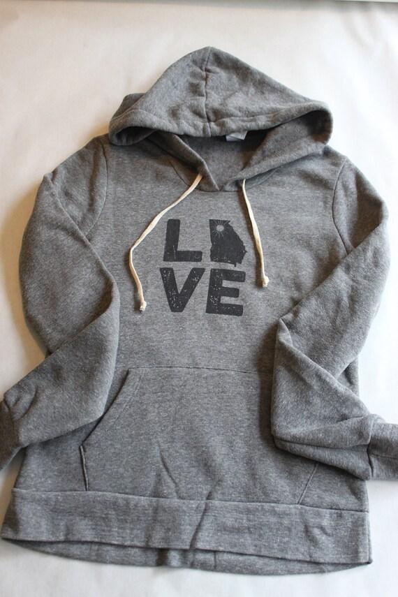 Sunny In Georgia's Womens LOVE sweatshirt