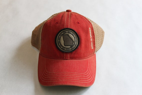State of Georgia scarlet red trucker hat