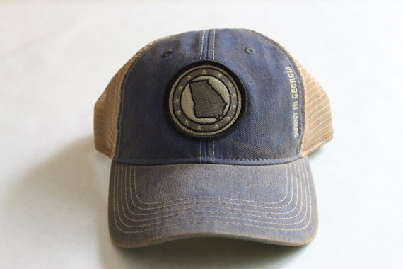 state of georgia blue trucker hat