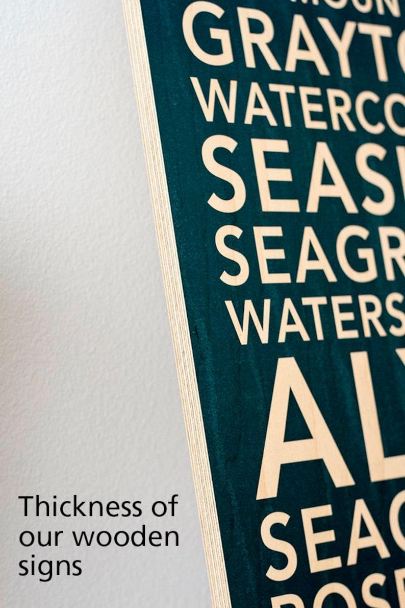 Wood Print Sign Salt Lake City Neighborhoods Utah