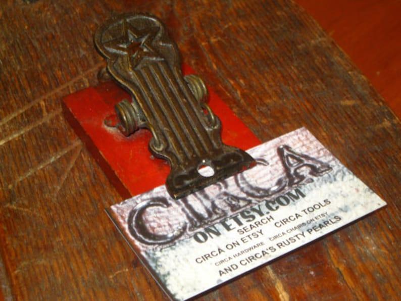 Texas Primitive Vanhorn Letter Clip Cast Iron Paper Clip Rare Star Paper Clip FREE SHIPPING