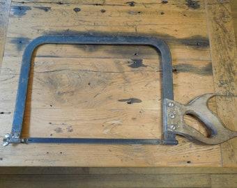 Millers Falls Bow Saw #24, Bone Cutting Saw, Antique Hand Saw, Rare Tool