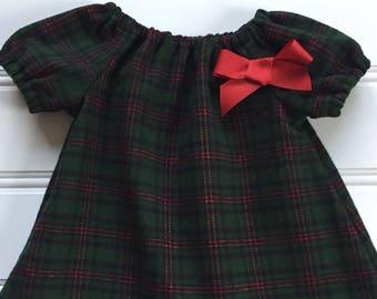 Girl Winter Dress, Plaid Flannel Dress, Girl Christmas Dress, Baby Christmas Dress, Toddler Christmas Dress, Plaid Dress