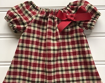 c75a6dae3240 good lad newborninfant girl red corduroy smocked christmas dress 36m ...