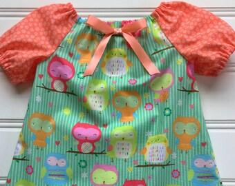 Girl Summer Dress, Baby Girl Dress, Baby Party Dress, Toddler Dress, Little Girl Dress, Infant Dress, Newborn Dress, Coral Dress