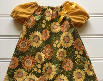 ac729e3f8 Items similar to Pumpkin Dress for Girl