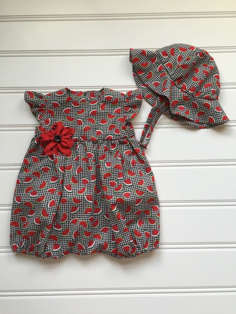 a857e6a09ae Watermelon Romper for Baby Girl Baby Girl Romper Baby Romper