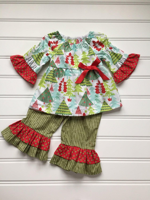 9300cfc94 Christmas Outfit for Girl Girl Christmas Outfit Girl Ruffle | Etsy