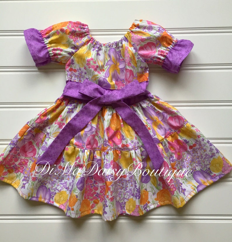 24de9123087 Little Girl Easter Dress Toddler Easter Dress Tiered Dress