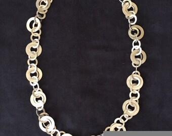 Vintage Aluminum Circles Necklace