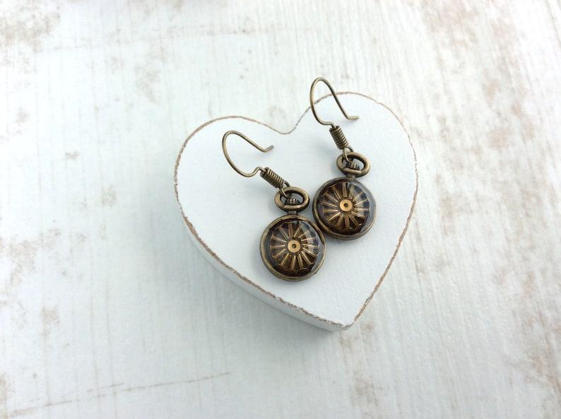 Steampunk Earrings. Pocket Watch Earrings. Watch Part image 0