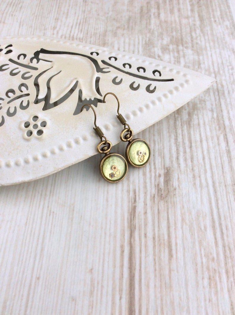 Pale Green Earrings MADE TO ORDER Small Green Drop Earrings image 0