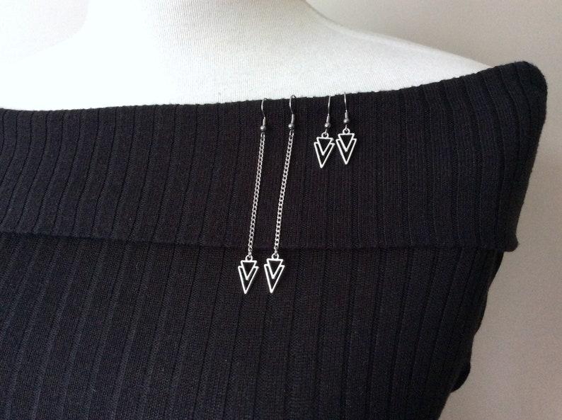 Arrow Earrings Simple Long Earrings Chain Earrings Light image 0
