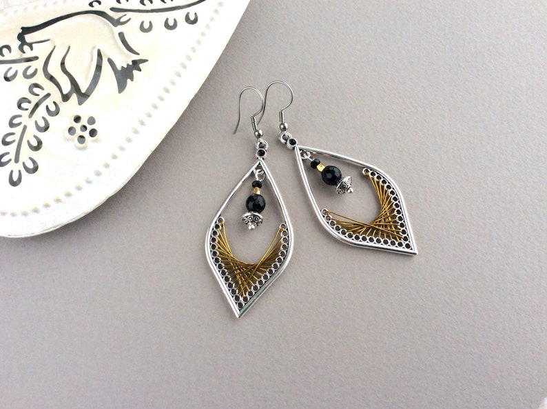 Leaf Shape Earrings Large Earrings Light Earrings Big image 0