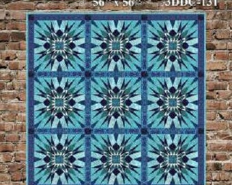 Sea Urchin Paper Piecing Quilt Pattern    #3DDC-131