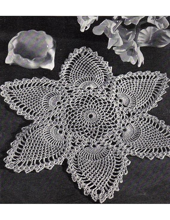Fabulous Crochet Pineapple Doily Pattern Retyped Large Print Vintage ...