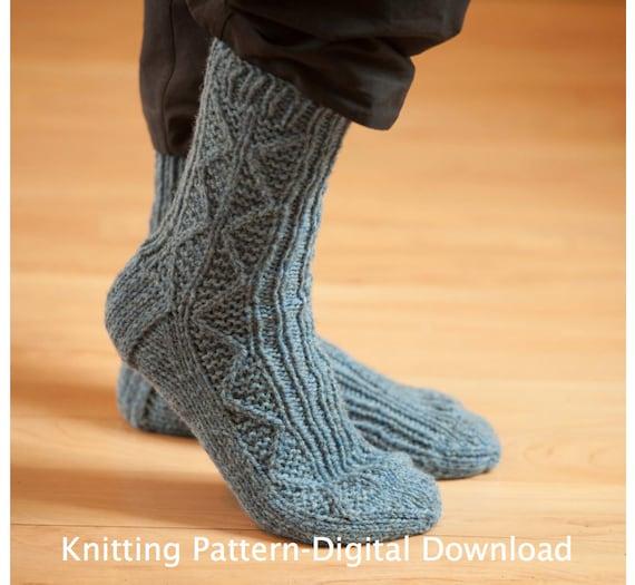 Sock Knitting Pattern Pdf Knitted Socks Pattern Knit Socks Etsy