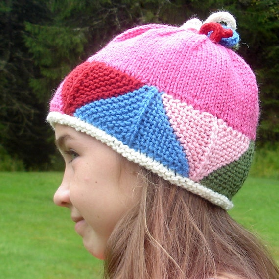 Modular Hat Knitting Pattern Pdf Knitted Triangles Hat Etsy