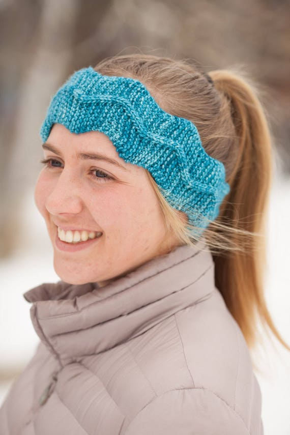 Knitted Headband Pattern Pdf Headband Knitting Pattern Easy Cable