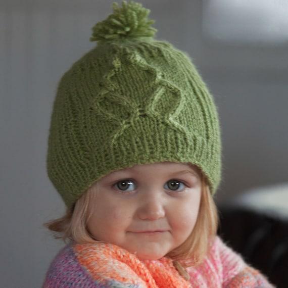Hat Knitting Pattern Pdf Kids Hat Pattern Frog Hat Etsy