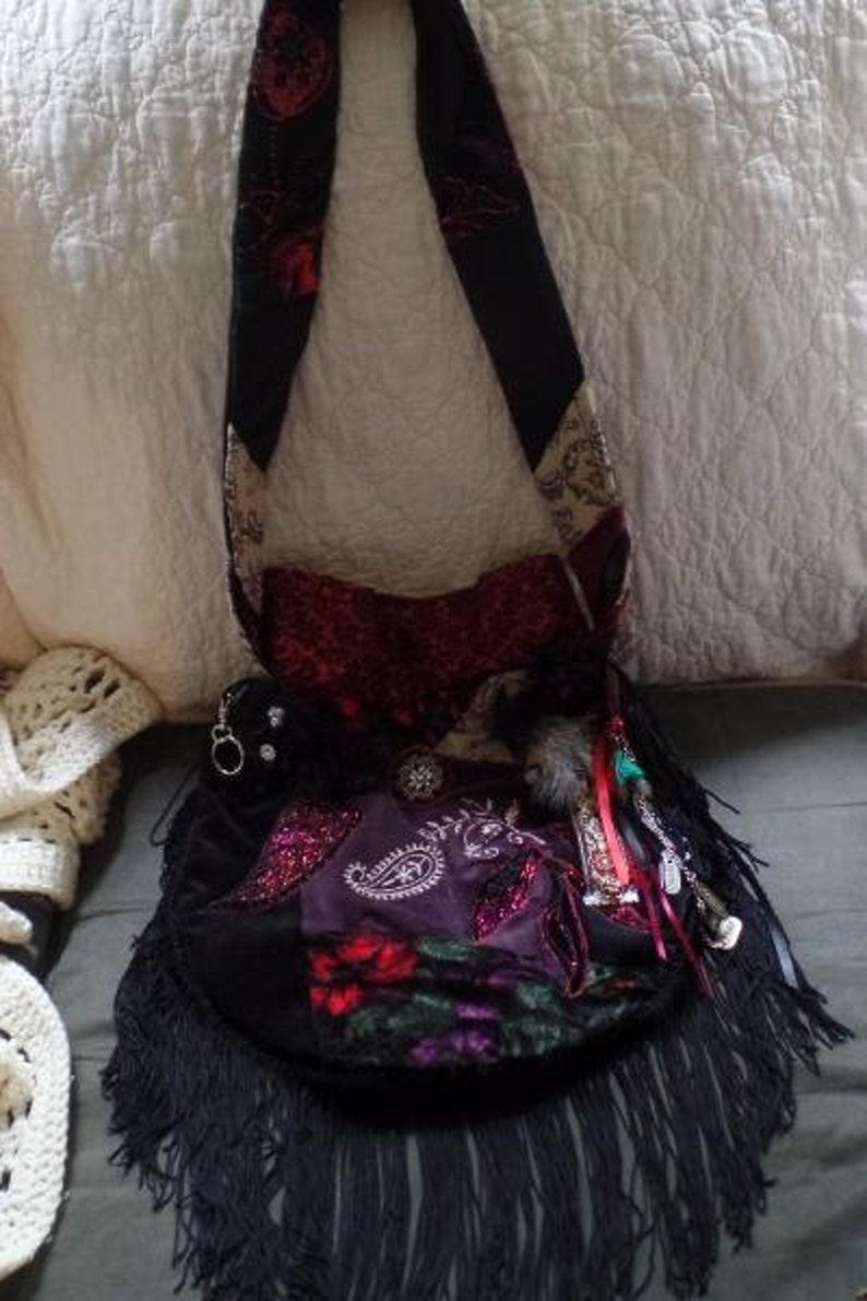 Gypsy Boho Velvet Patchwork Purse