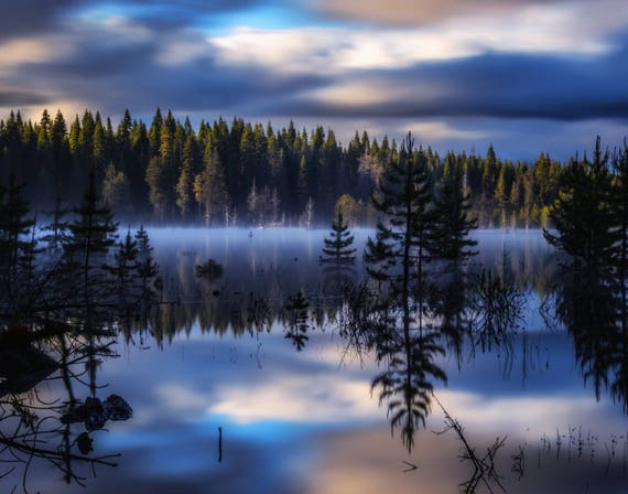 Enchanted (prints) long exposure photograph Dry Lake reflections on the water