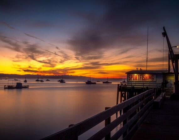 Setting the Stage (Prints) Harford Pier, Avila Beach California