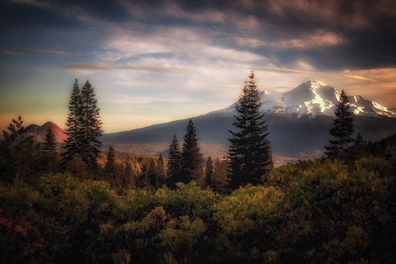 A Favorite View (Digital download) Mount Shasta and Black Butte Northern California