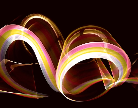 Light Rolls (prints) long exposure light painting abstract photograph