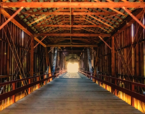Inside the Honey Run Bridge (prints) this Historic bridge was destroyed by the Cmp Fire