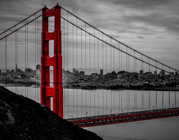 Touch of Red (Prints) Golden Gate Bridge San Francisco California