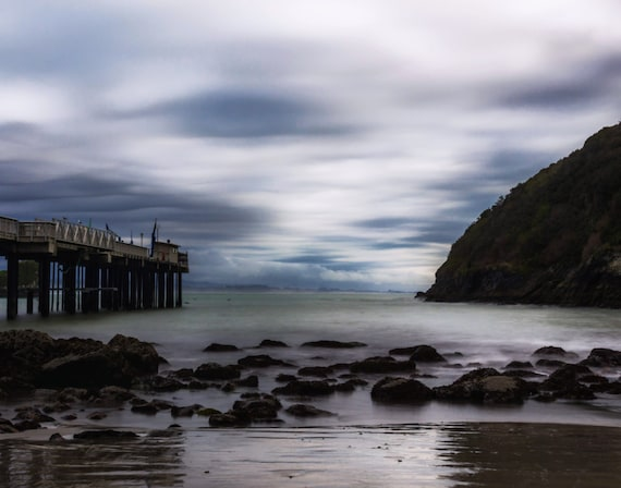 Stormy Day at the Pier (Prints) Trinidad California