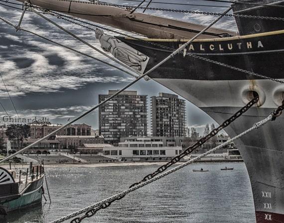 Through the Ships Bow (Prints) San Francisco Bay