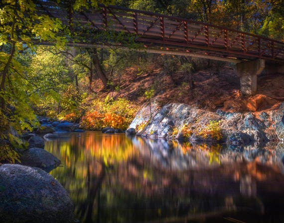 Escaping (prints) Brandy Creek with fall color reflections on the water