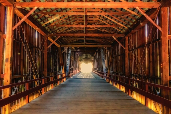 Inside the Honey Run Bridge  (CANVAS) this historic bridge was destroyed by the Camp Fire