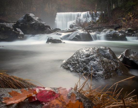 Fall at Middle Falls (Prints) McCloud California